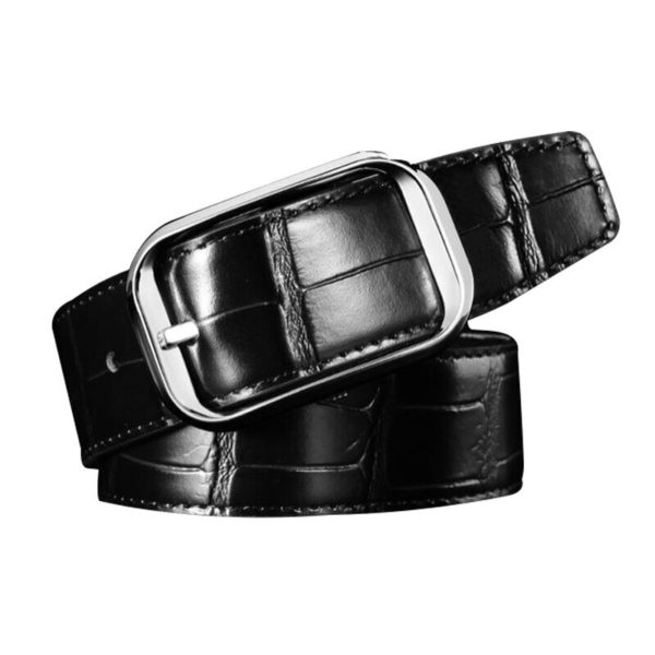 Men's Black Leather Belt 1926
