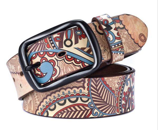 men's printed belt 1129